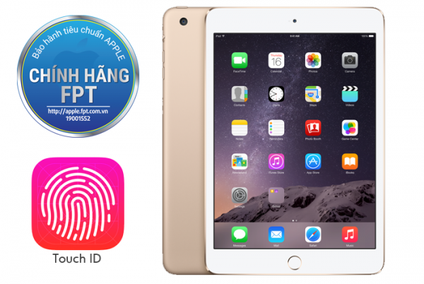 APPLE IPAD MINI3 WIFI + CELLULAR (4G) 16GB GOLD MGYR2/MH0F2