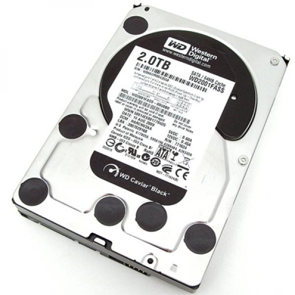 Western Digital 2 TB Caviar Black 64 MB SATA 6 Gb/s 3.5