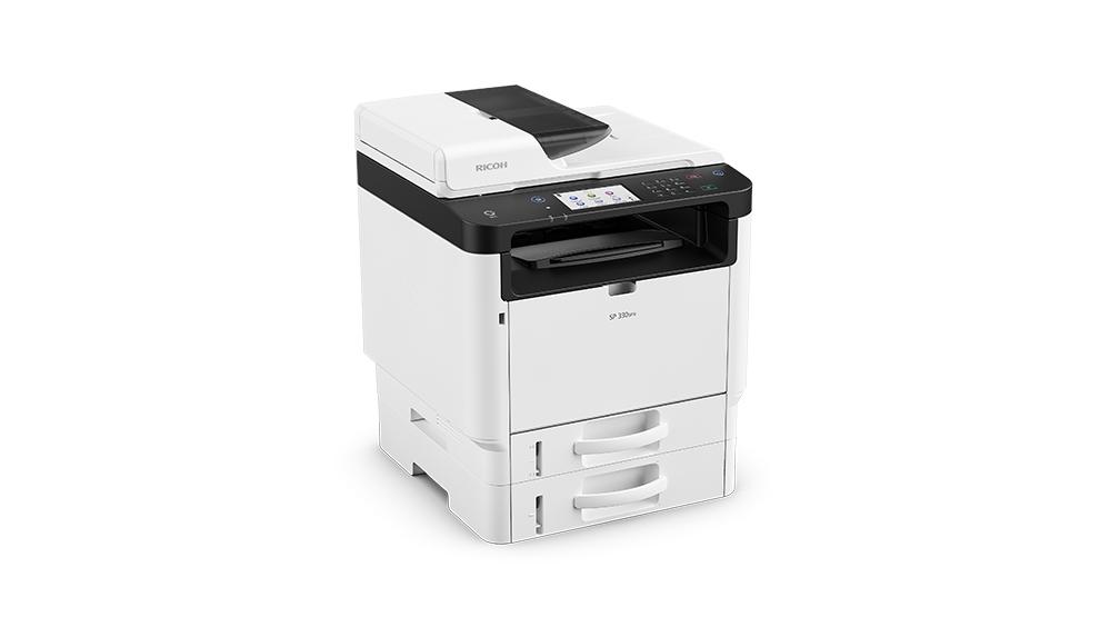 Máy in Ricoh SP 330SFN đa chức năng tự động đảo mặt bản gốc ( In/Copy/Scan/Fax)